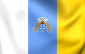 Flag of Canary Islands — Stock Photo