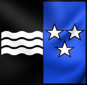 Flag of Aargau, Switzerland.  — Stock Photo