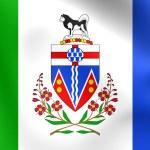 Flag of Yukon, Canada. — Stock Photo #64329243