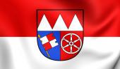 Flag of Lower Franconia, Germany.  — Stock Photo