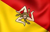 Flag of Sicily, Italy. — Stock Photo