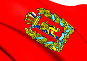 Flag of Krasnoyarsk Krai, Russia.  — Stock Photo