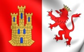 Flag of Caceres City, Spain. — Stock Photo