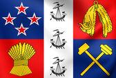 Coronation Standard of New Zealand — Stock Photo