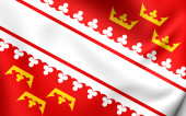 Flag of Alsace — Stock Photo