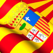 Flag of Aragon, Spain. — Stockfoto #70176757