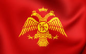 Byzantine Eagle, Flag of Palaiologos Dynasty.  — Stock Photo