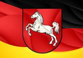 Flag of Lower Saxony, Germany.  — Stock Photo