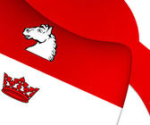 Flag of Guelph, Canada.  — Stock Photo