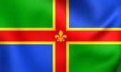 Flag of Lincolnshire, England. — Stock Photo