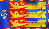 Flag of Lord Warden of the Cinque Ports — Stock Photo