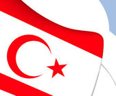 Turkish Republic of Northern Cyprus Flag — Stock Photo