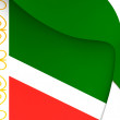 Flag of Chechen Republic, Russia. — Stock Photo #71003663