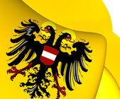 Holy Roman Empire Flag (1437-1493) — Stock Photo