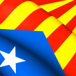 Blue Estelada Flag — Stock Photo #71635323
