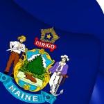 Flag of Maine, USA. — Stock Photo #71949727