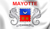 Department of Mayotte Flag — Stock Photo