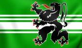 Flag of East Flanders, Belgium. — Stock Photo