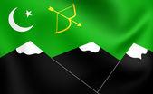 Flag of Hunza, Pakistan. — Stock Photo