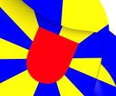 Flag of West Flanders, Belgium. — Stock Photo
