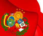 Flag of Peru-Bolivian Confederation — Stock Photo