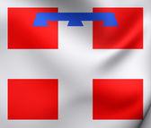 Flag of Piedmont, Italy.  — Stock Photo