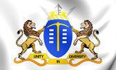 Flag of Gauteng, South Africa. — Stock Photo