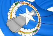 Vlag van noordelijke marianeneilanden — Stockfoto