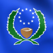 Flag of the Pohnpei State, Micronesia. — Stock Photo #75504405