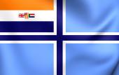 南アフリカ共和国の市民空気旗 (1935年-1994 年) — ストック写真