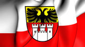 Flag of the Duisburg, Germany. — Stock Photo