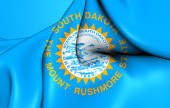 Flag of the South Dakota, USA.  — Stock Photo
