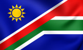 Flag of Namibia and South Africa — Stock Photo