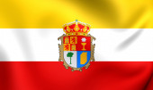 Province of Cuenca Flag, Spain. — Stock Photo