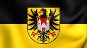Flag of Quedlinburg, Germany. — Stock Photo