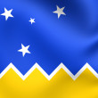 Flag of Magallanes and Antartica Chilena Region — Stock Photo #77371440