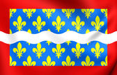 Flag of Cher Department, France. — Stock Photo