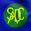 Flag of Southern African Development Community — Stock Photo #77881536