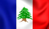 Bandera de Líbano durante el mandato francés (1920-1943) — Foto de Stock