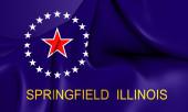 Flag of Springfield, Illinois. — Stock Photo