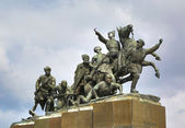 Monument Chapaev and his army in Samara — Stock Photo