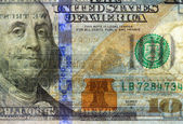 Watermark on new hundred dollar bill — Stock Photo