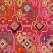 Fabric embroidered with oriental ornaments — Stock Photo #55981283