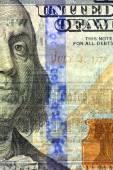 Watermark on new hundred dollar bill — Stock Photo