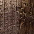 Hieroglyphic carvings in ancient egyptian temple — Stock Photo #61977111