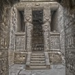 Ancient Egyptian Hathor sculptures in temple of Dendera — Stock Photo #63223025