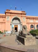 Sphinx statue near Egyptian Museum in Egypt — Stock Photo