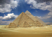 Great pyramids in Egypt  — Stock Photo