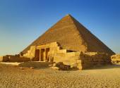 Mastaba and Great Pyramid in Egypt — Stock Photo