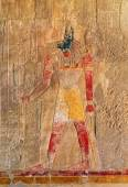 Ancient egypt color image of anubis — Stock Photo